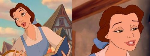 Am I the only one who thinks that Belle looks so weird and different in the second picture?
