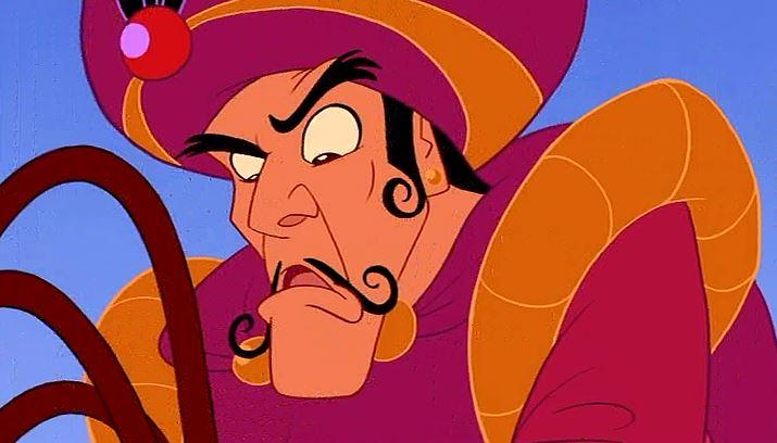No mustache good! Curly mustache bad!