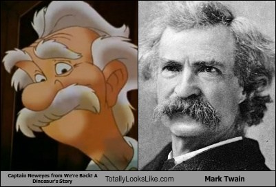 Although this image professes that the striking resemblance is beared towards Mark Twain!