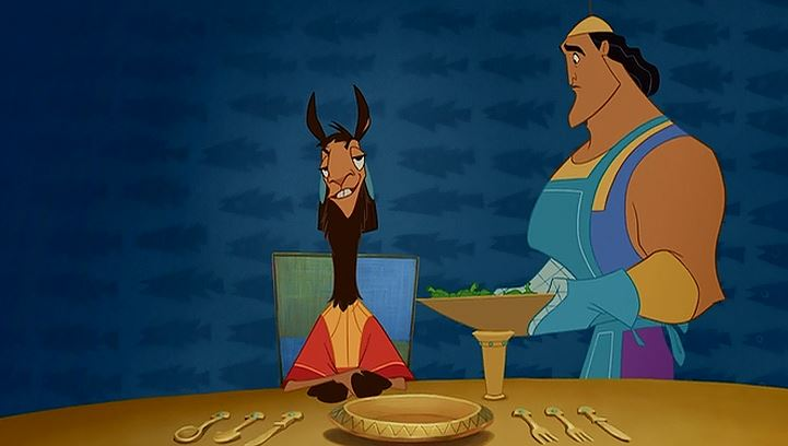 Kronk's probably wondering what a llama curry would taste like!