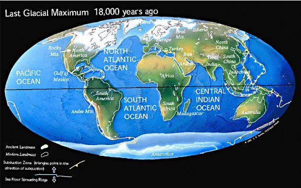 Or maybe the continents were still stuck together?