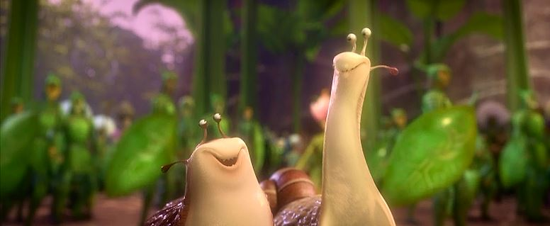 For example, Chris O'Dowd and Aziz Ansari, as a snail and slug respectively! Oh, how I wish they'd just keep their annoying mouths shut throughout the whole movie!