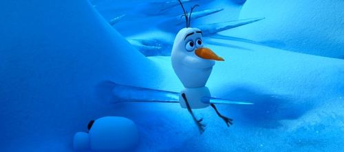 Don't ask me how Elsa's powers can create live snowmen. And don't ask me how snowmen can impale themselves and still live.