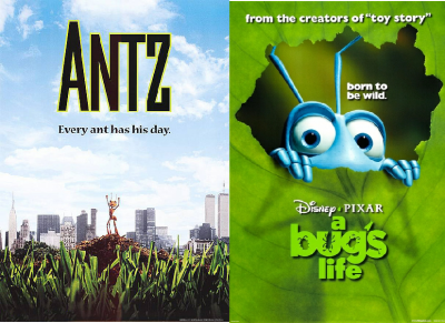 Sadly, Dreamworks Animation's Antz emerged victorious. Just look at the victory pose on the poster.