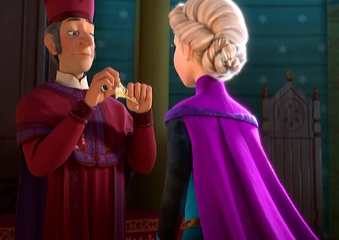 """I pronounce you: QUEEN ELSA! Your turn! Try to pronounce my name!"""