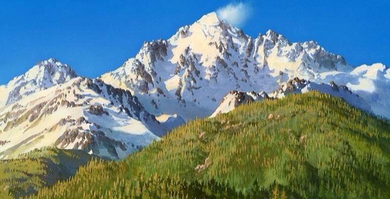 You can't tell me that this isn't a real mountain! I won't believe you!