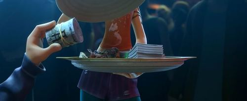 I never thought I'd see the day when I'd see gambling in an animated Disney film...much less illegal gambling in an underground den where gangs, drugs, alcohol, and promiscuity almost certainly are abundant!