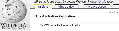 I'm sure that's how Wikipedia will denote it!